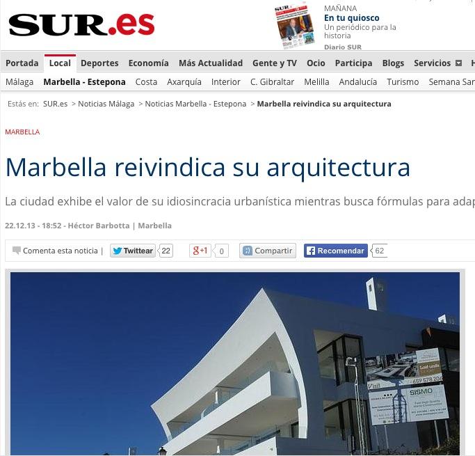 Marbella reivindica su arquitectura teodoro cabrilla - Estudios de arquitectura en marbella ...