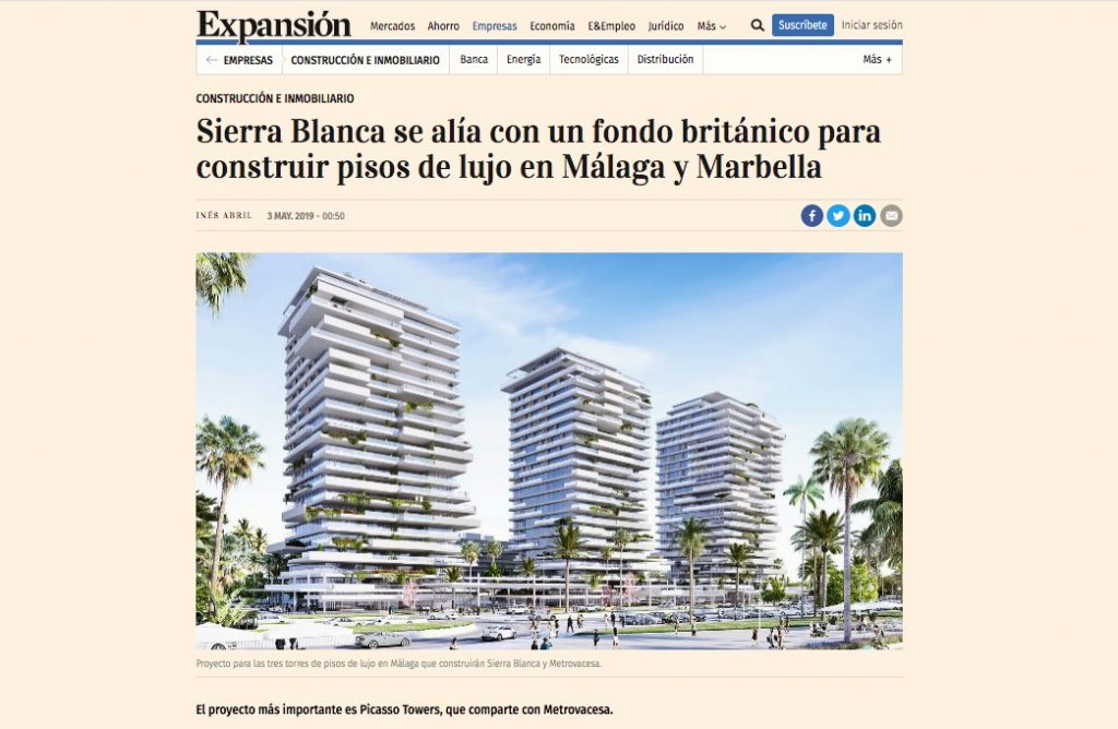 Proyecto Picasso Towers con Sierra Blanca & Metrovacesa